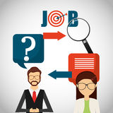 Jobs concept design. Vector illustration eps10 graphic Royalty Free Stock Images