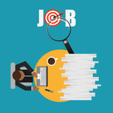 Jobs concept design. Vector illustration eps10 graphic Stock Photography