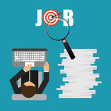 Jobs concept design. Vector illustration eps10 graphic Royalty Free Stock Photo
