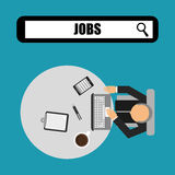 Jobs concept design Royalty Free Stock Image