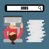 Jobs concept design. Vector illustration eps10 graphic Stock Photo