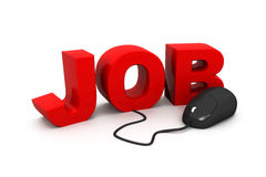Jobs connected to a computer mouse Stock Photo