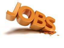 Jobs Crash Royalty Free Stock Images