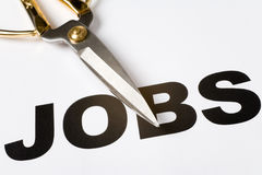 Jobs Cut Royalty Free Stock Photo