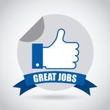 Jobs design Stock Images