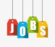 Jobs design Royalty Free Stock Photos