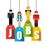Jobs design Stock Photography