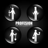 Jobs design, vector illustration. Stock Images