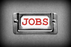 Jobs Drawer Label Stock Photography