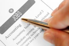Jobs eingestuft lizenzfreie stockfotos