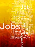 Jobs employment background concept. Background concept illustration of jobs work employment international Royalty Free Stock Photography
