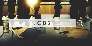 Jobs Employment Career Occupation Application Concept.  Stock Photography