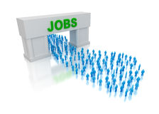 Jobs for everyone. Concept over white Royalty Free Stock Image