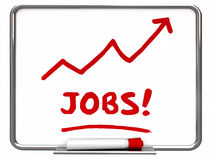 Jobs Find New Work Arrow Rising Employment. 3d Illustration Stock Photo