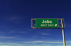Jobs Freeway Exit Sign Stock Photography