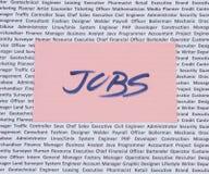Jobs, freie Stellen und Öffnungen Lizenzfreies Stockbild