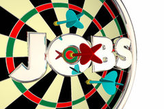 Jobs Hiring Find Seek Career Opportunity Dart Board vector illustration