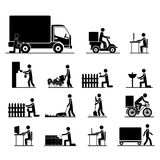 Jobs icons Royalty Free Stock Photos
