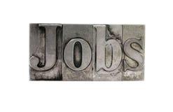 ?Jobs? im alten Metalltypen stockbilder