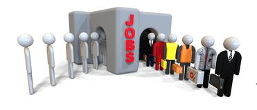 Jobs Interviews concept Stock Image