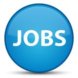 Jobs special cyan blue round button Royalty Free Stock Photo