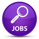 Jobs special purple round button Royalty Free Stock Image