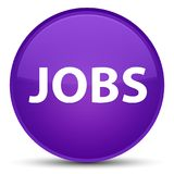 Jobs special purple round button Stock Photography
