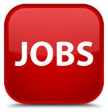 Jobs special red square button Royalty Free Stock Image