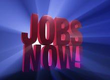 Jobs jetzt! Lizenzfreies Stockbild