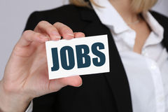 Jobs, job working recruitment employees business concept Stock Photography