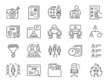 Free Jobs Line Icon Set. Included Icons As Career, Seeking Job, Employment, Recruit, Recruitment And More. Royalty Free Stock Image - 138339826