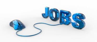 Jobs mit Computermaus Lizenzfreie Stockbilder