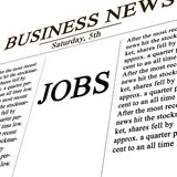 Jobs in the news paper Stock Photo