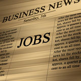 Jobs in the news paper Stock Photos