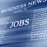 Jobs in the news paper Royalty Free Stock Images
