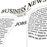 Jobs in the news paper stock illustration