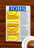Jobs newspaper Royalty Free Stock Photography