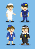 Jobs and Occupation Woman Uniform Vector Icon Stock Image