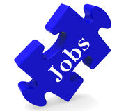 Jobs Puzzle Shows Recruitment Employment Or Hiring Royalty Free Stock Photo