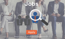 Jobs Recruitment Employment Human Resources Website Online Conce Royalty Free Stock Photos