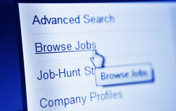 Jobs search Royalty Free Stock Photography