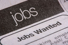 Jobs section stock photo