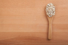 Jobs tears with wooden spoon Stock Images