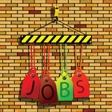 Jobs under construction Stock Photography