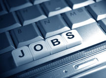 Jobs unter Scheinwerfer Lizenzfreie Stockfotos