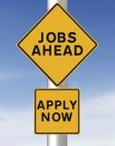 Jobs voran Lizenzfreies Stockbild