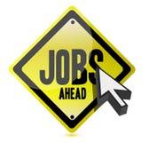 Jobs voran und Cursorabbildungzeichen Stockfoto