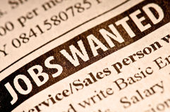 Jobs wanted Stock Image