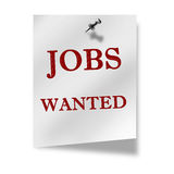 Jobs wanted Stock Photo