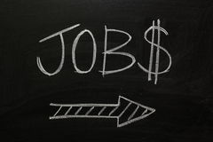 JOBS this way Stock Images